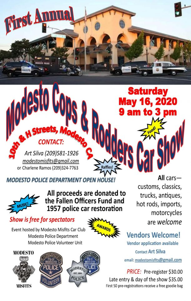Modesto Cops & Rodders May 16 2020